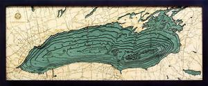 "Lake Ontario 3-D Nautical Wood Chart, Medium, 13.5"" x 31"" ONTA-D3M"